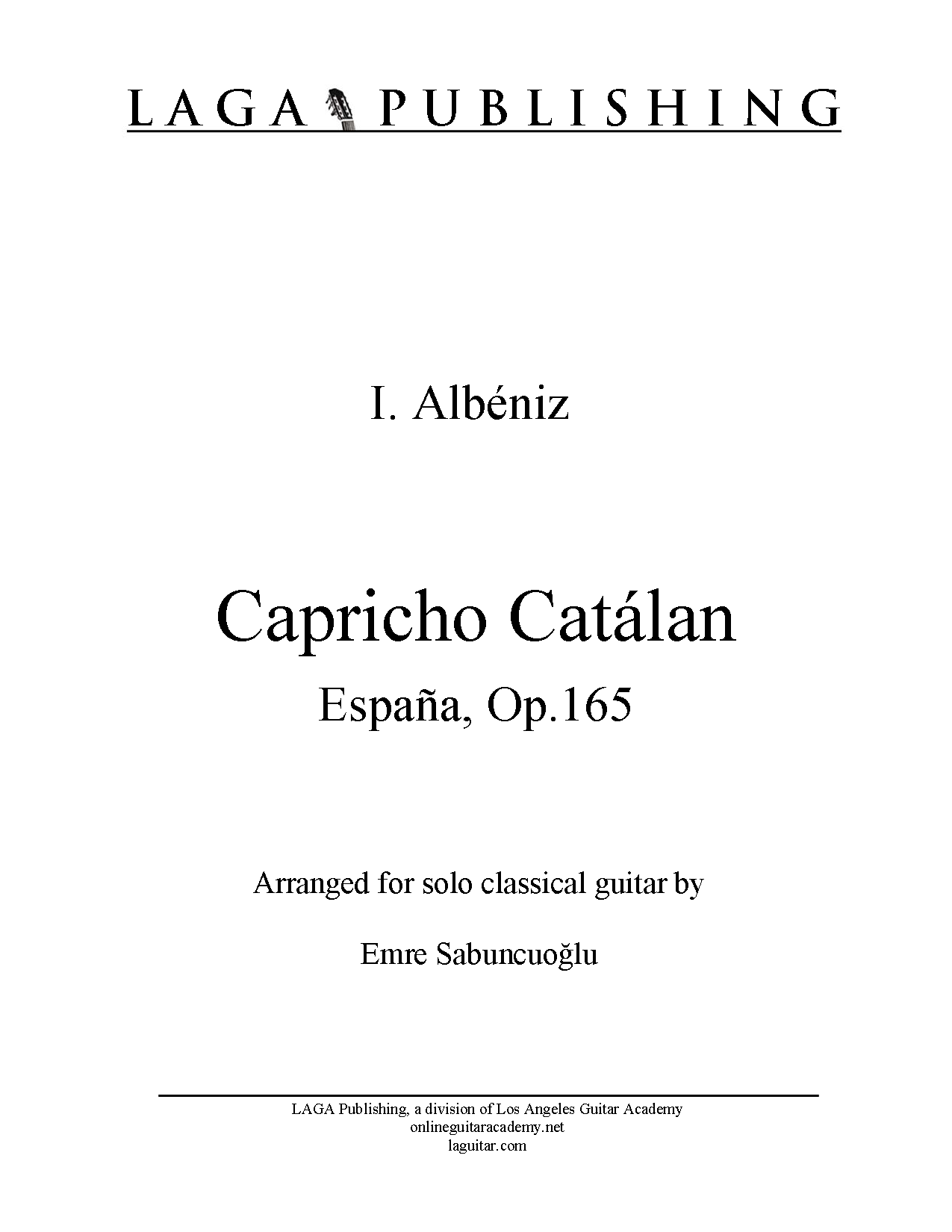 LAGA-Publishing-Albeniz-Capricho-Catalan 1