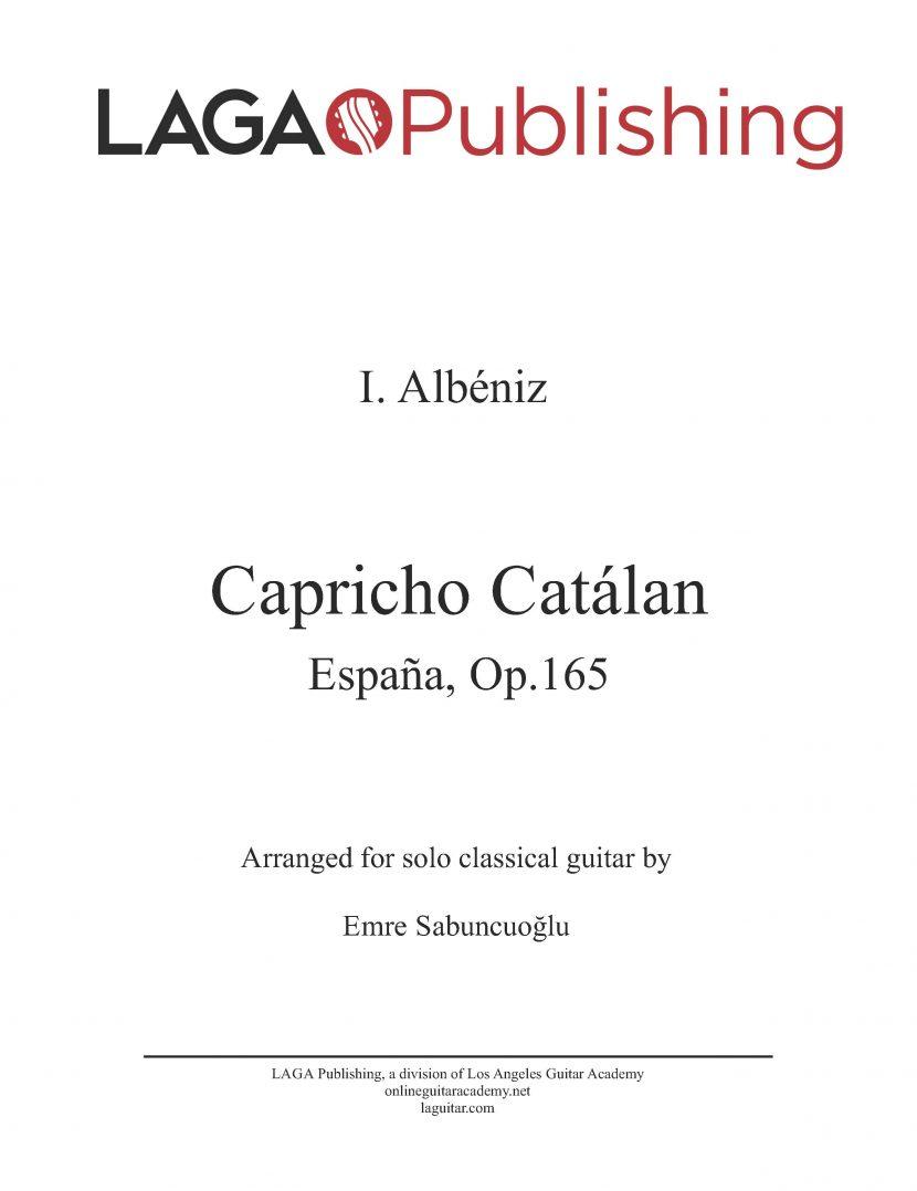 Capricho Catálan by I. Albeniz for classical guitar