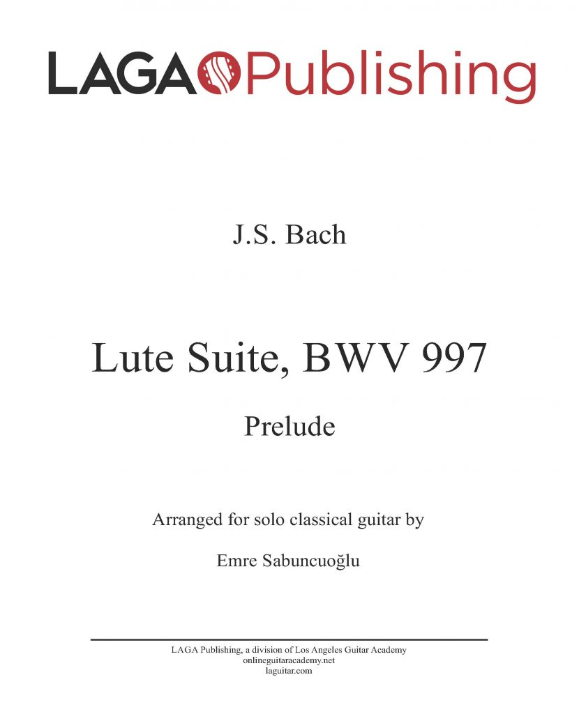 Prelude from Lute Suite (BWV 997) by J. S. Bach for classical guitar