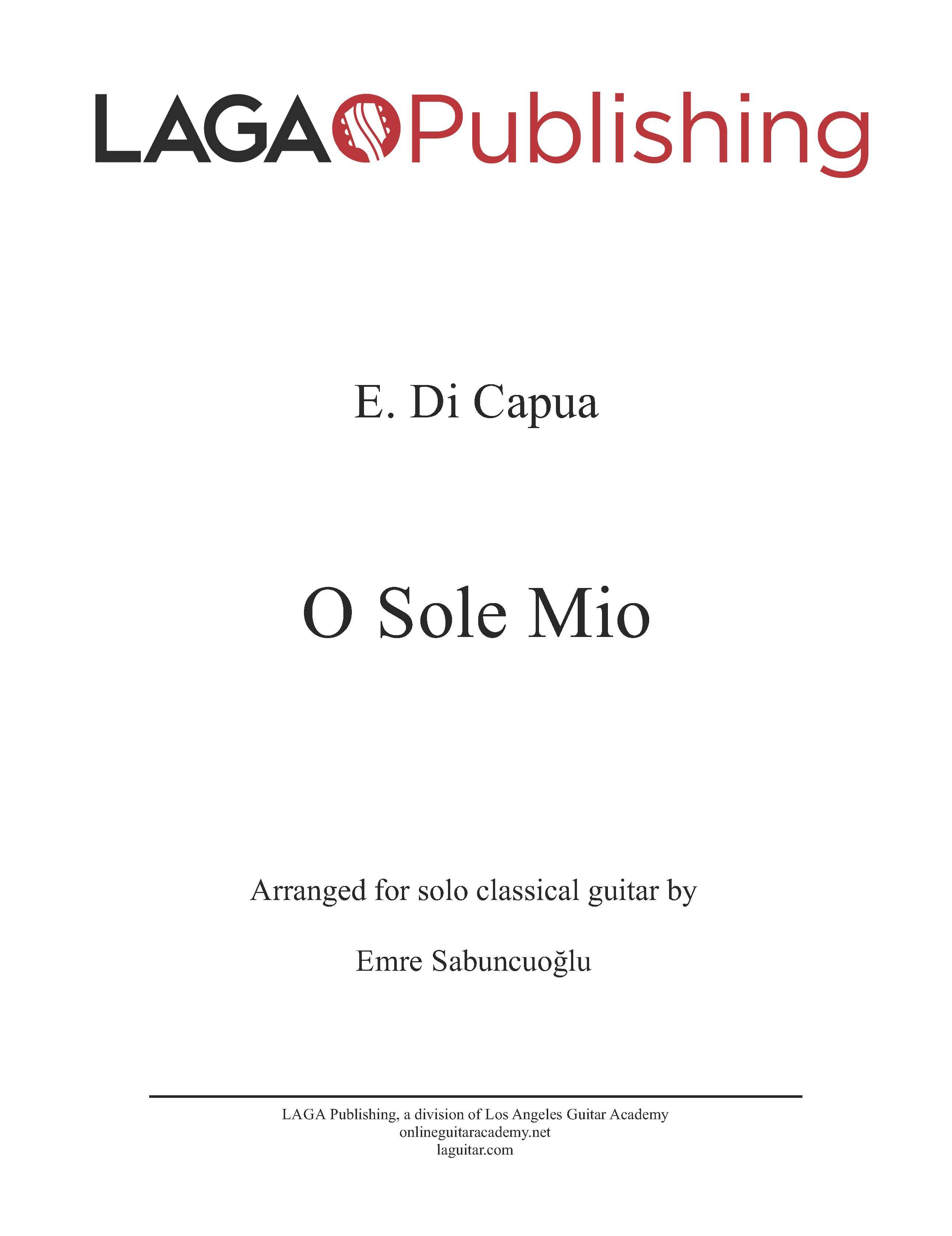 LAGA-Publishing-Capua-O-Sole-Mio-Score-and-Tab