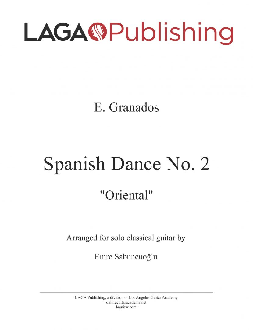 Spanish Dance No. 2 'Oriental' by E. Granados for classical guitar