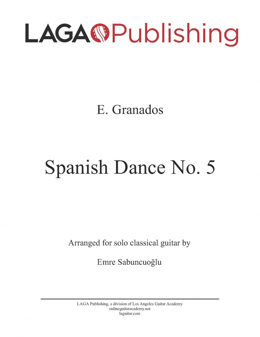 Spanish Dance No. 5 by E. Granados for classical guitar