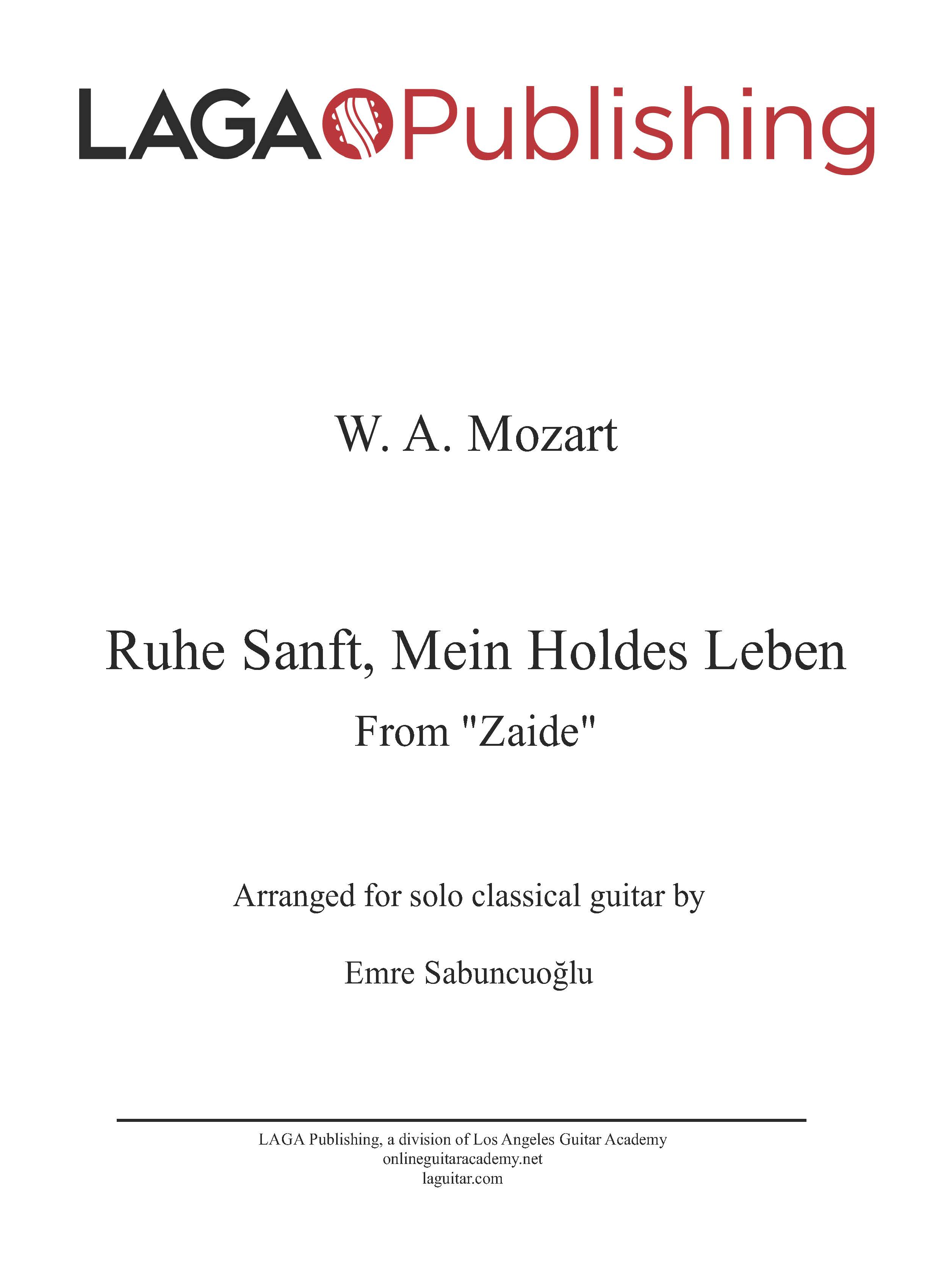LAGA-Publishing-Mozart-Zaide-Ruhe-Sanft-Score-and-Tab