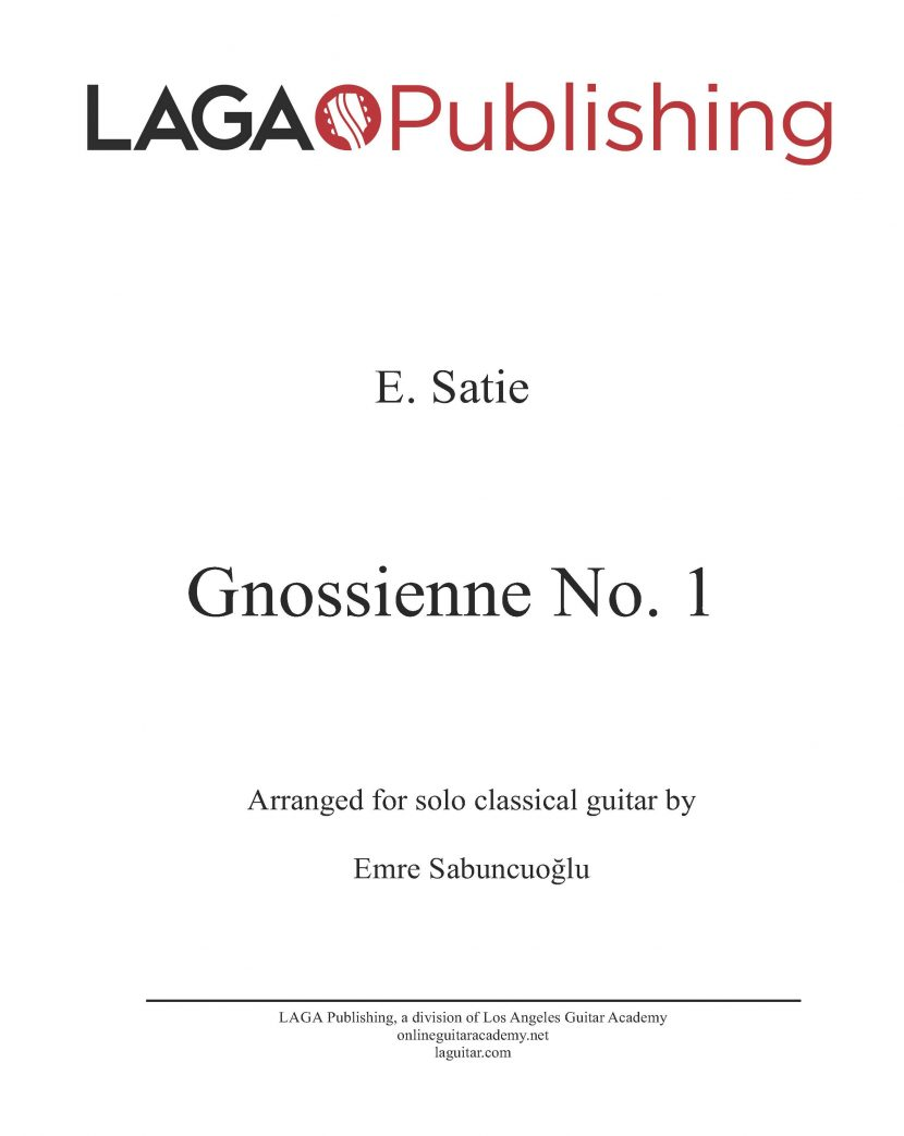 Gnossienne No. 1 by Erik Satie for classical guitar