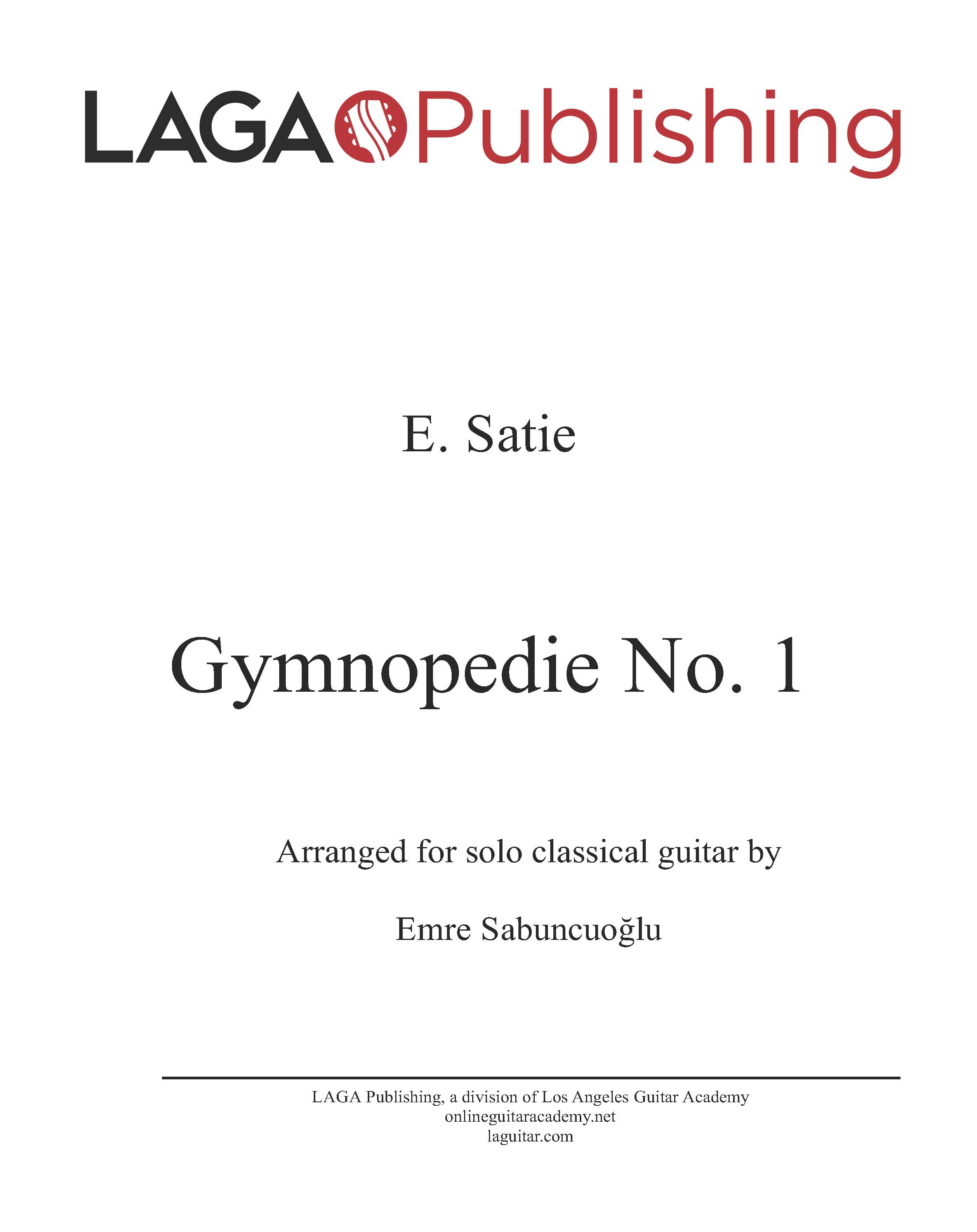 LAGA-Publishing-Satie-Gymnopedie-I-Score-and-Tab