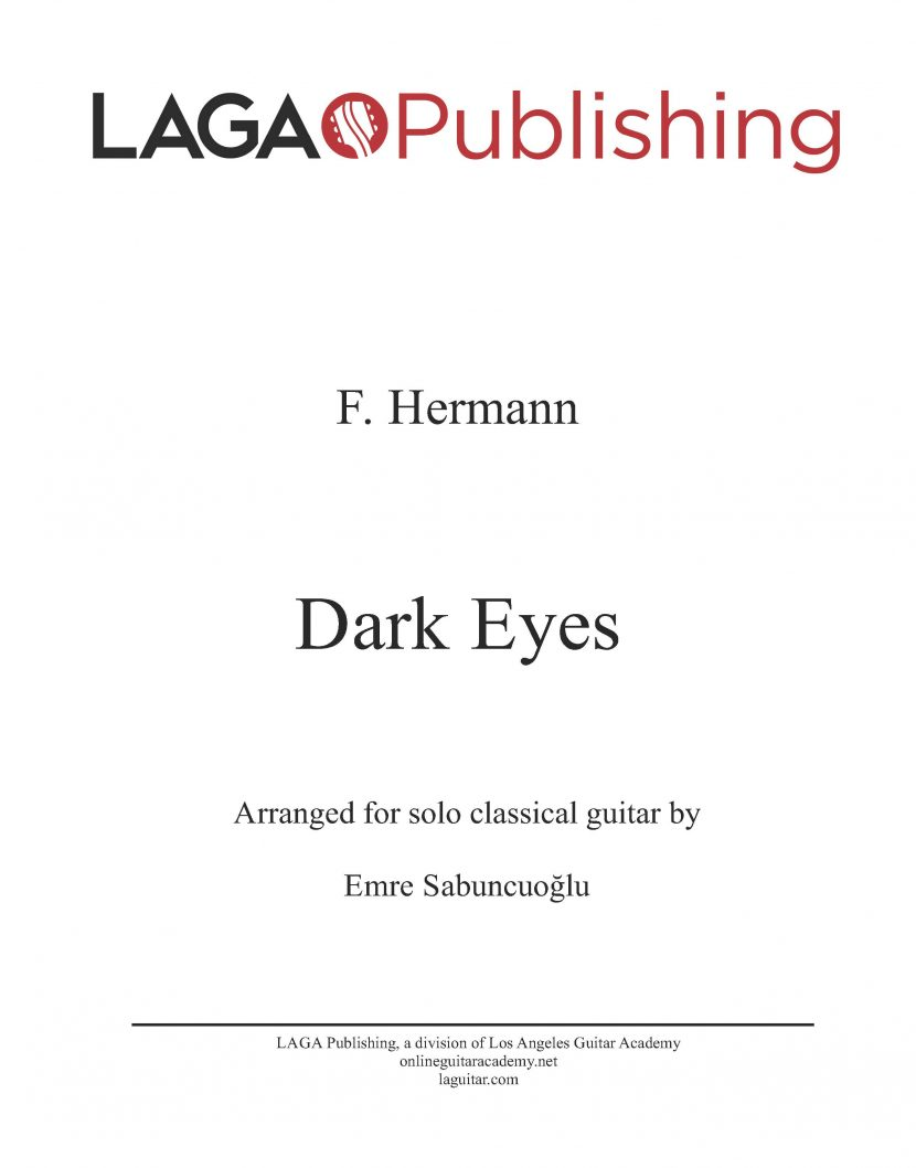 Dark Eyes by Florian Hermann for classical guitar