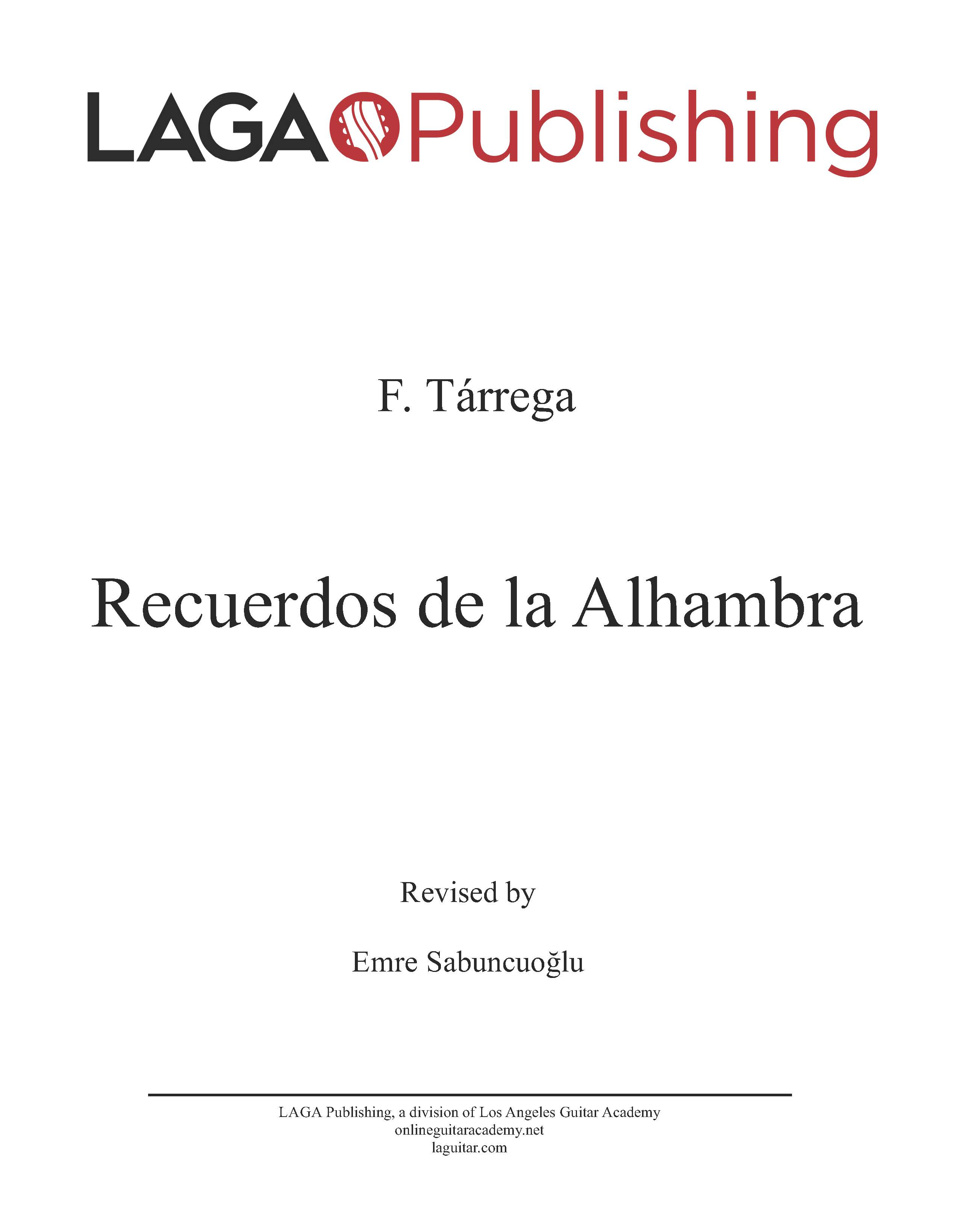 LAGA-Publishing-Tarrega-Recuerdos-Score-and-Tab