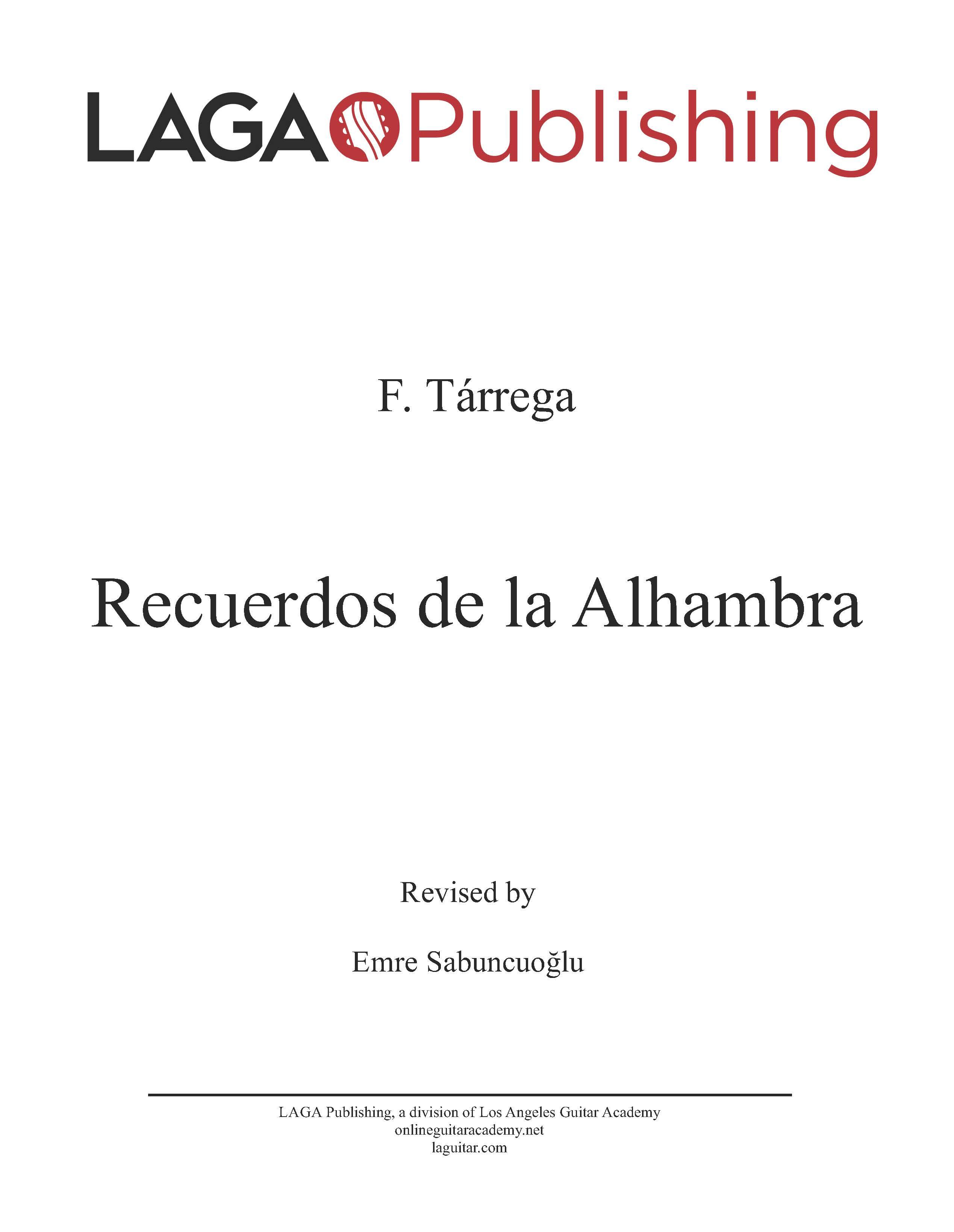 LAGA-Publishing-Tarrega-Recuerdos-Score-and-Tab
