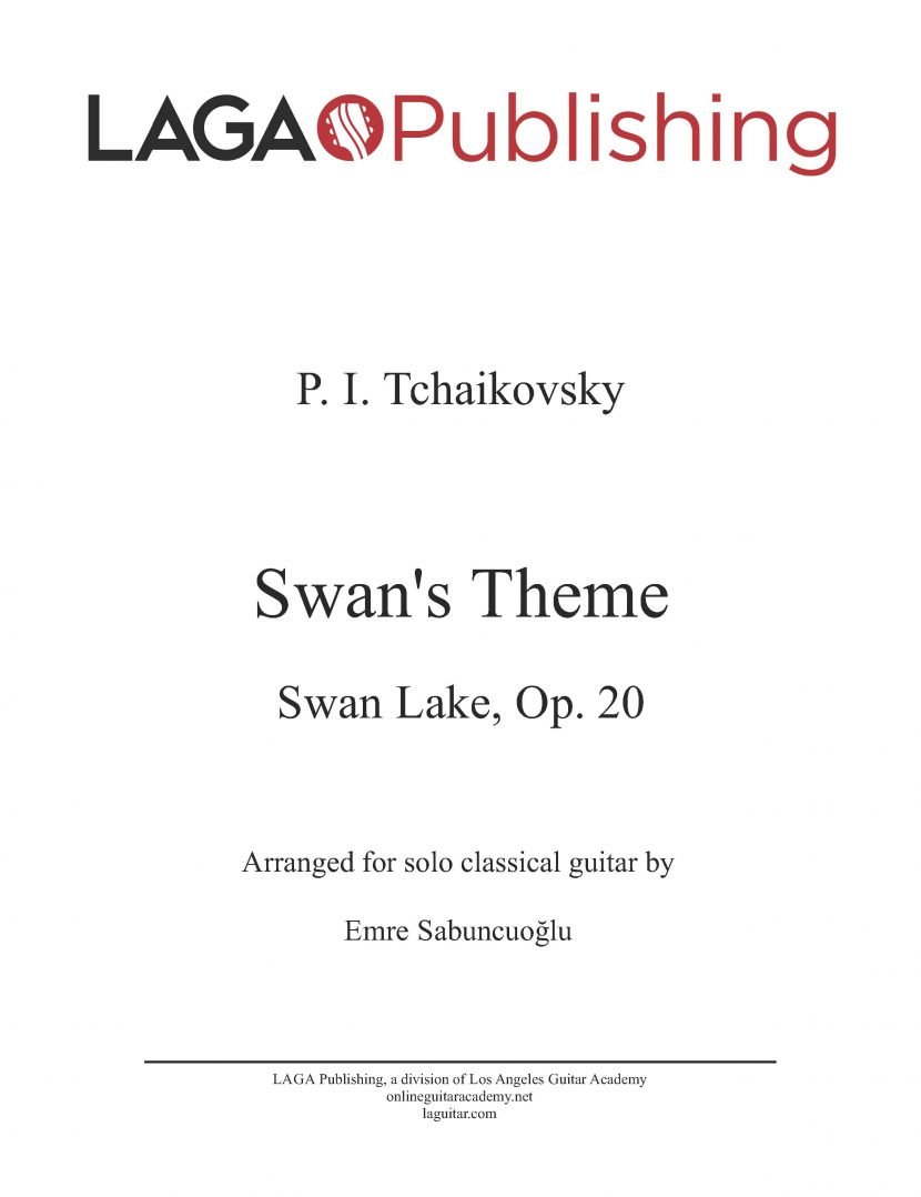 Theme from Swan Lake by P. I. Tchaikovsky for classical guitar