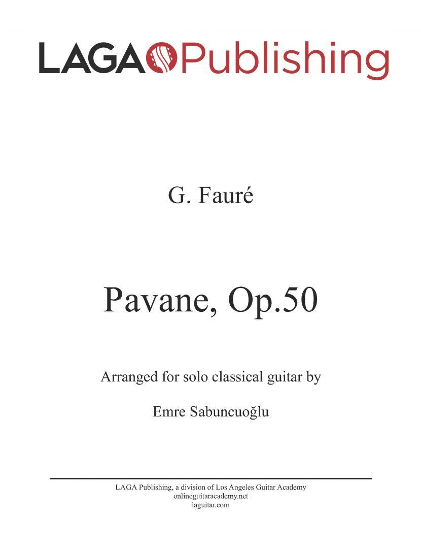 Pavane (Op.50) by Gabriel Fauré for classical guitar