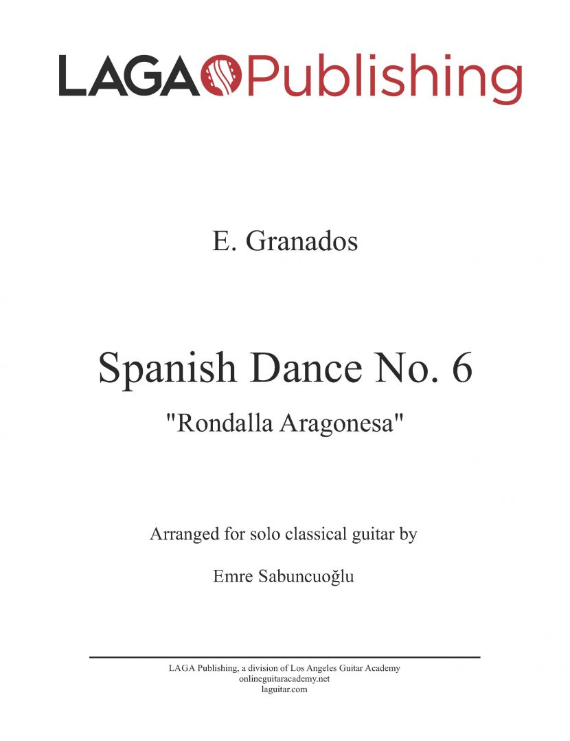 Spanish Dance No. 6 by E. Granados for classical guitar