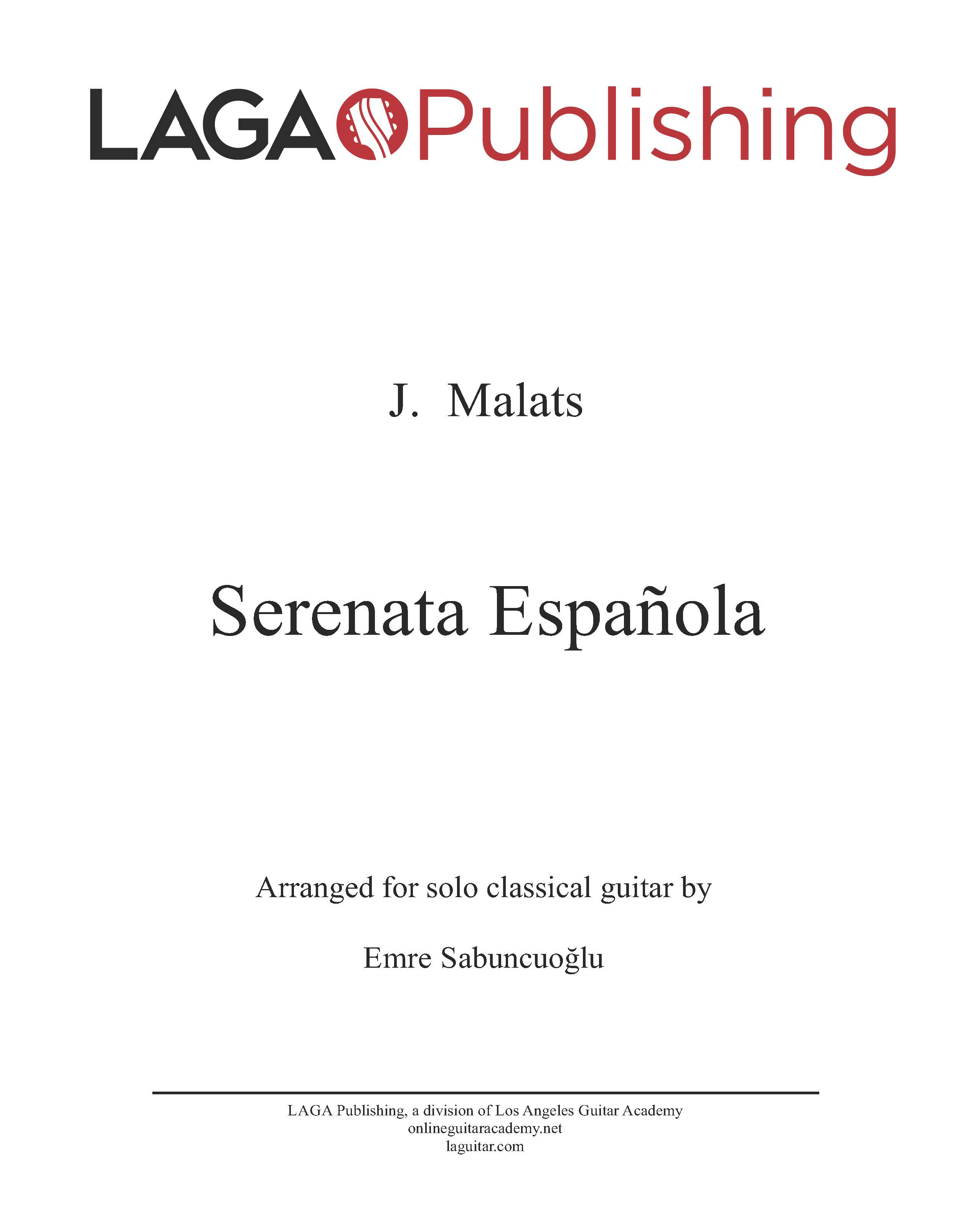 LAGA-Publishing-Malats-Serenata-Score-and-Tab