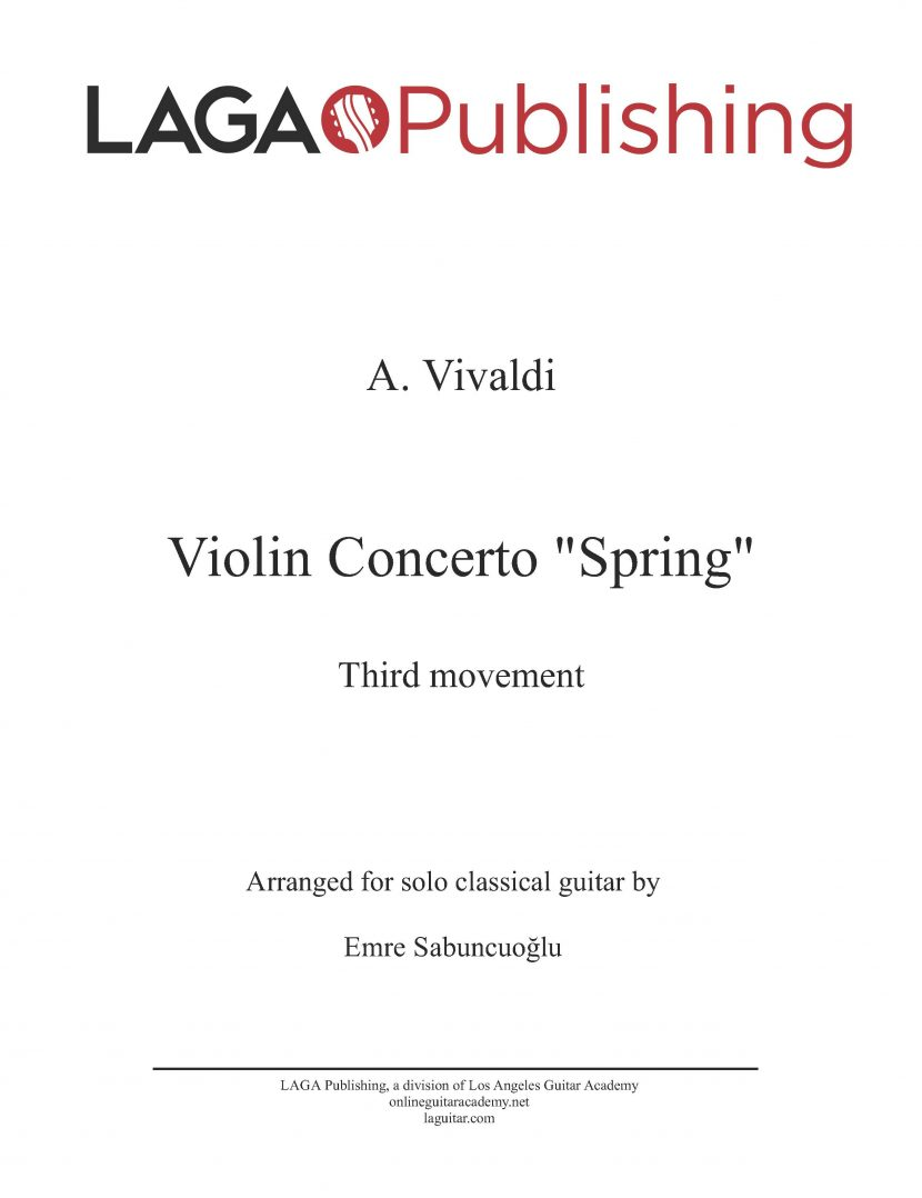 The Four Seasons - Spring (3rd movement) by A. Vivaldi for classical guitar