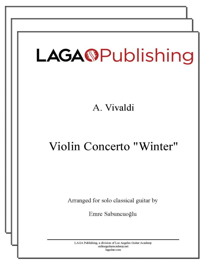 Winter (3 mvmts) from Four Seasons by Vivaldi