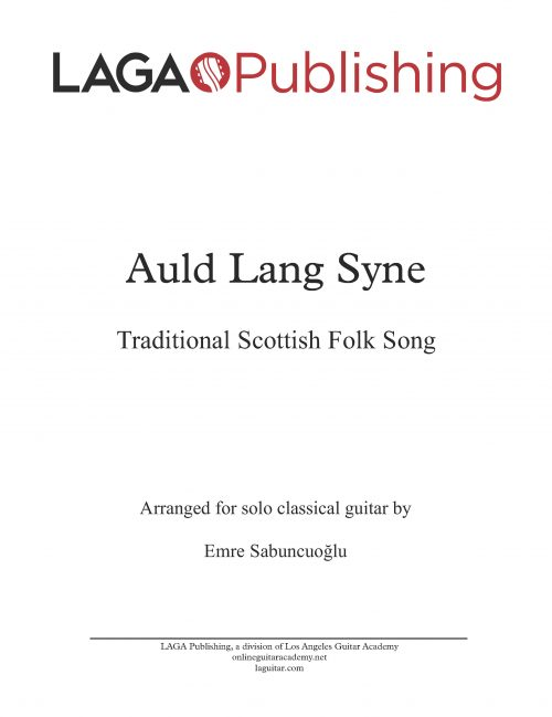 auld lang syne classical guitar