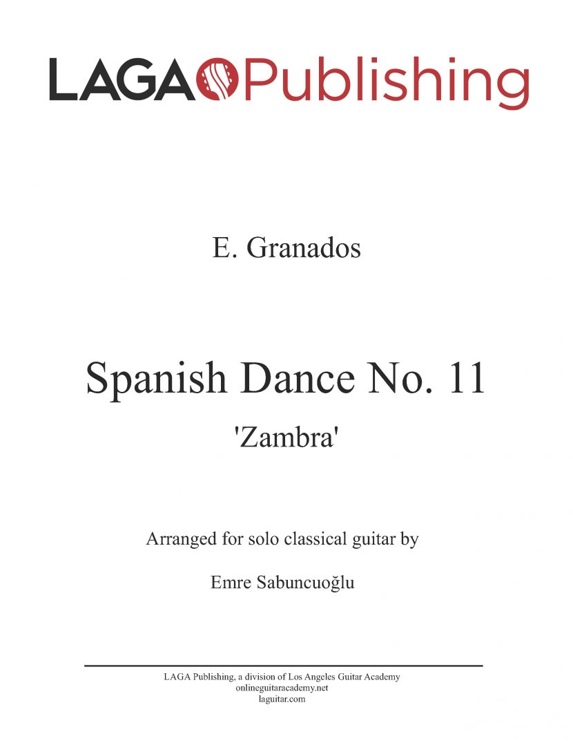 Spanish Dance No. 11 by E. Granados for classical guitar
