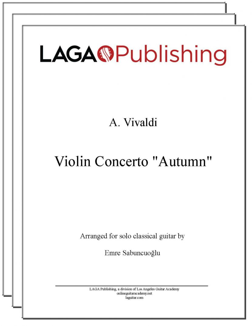 Autumn (3 mvmts) from Four Seasons by Vivaldi