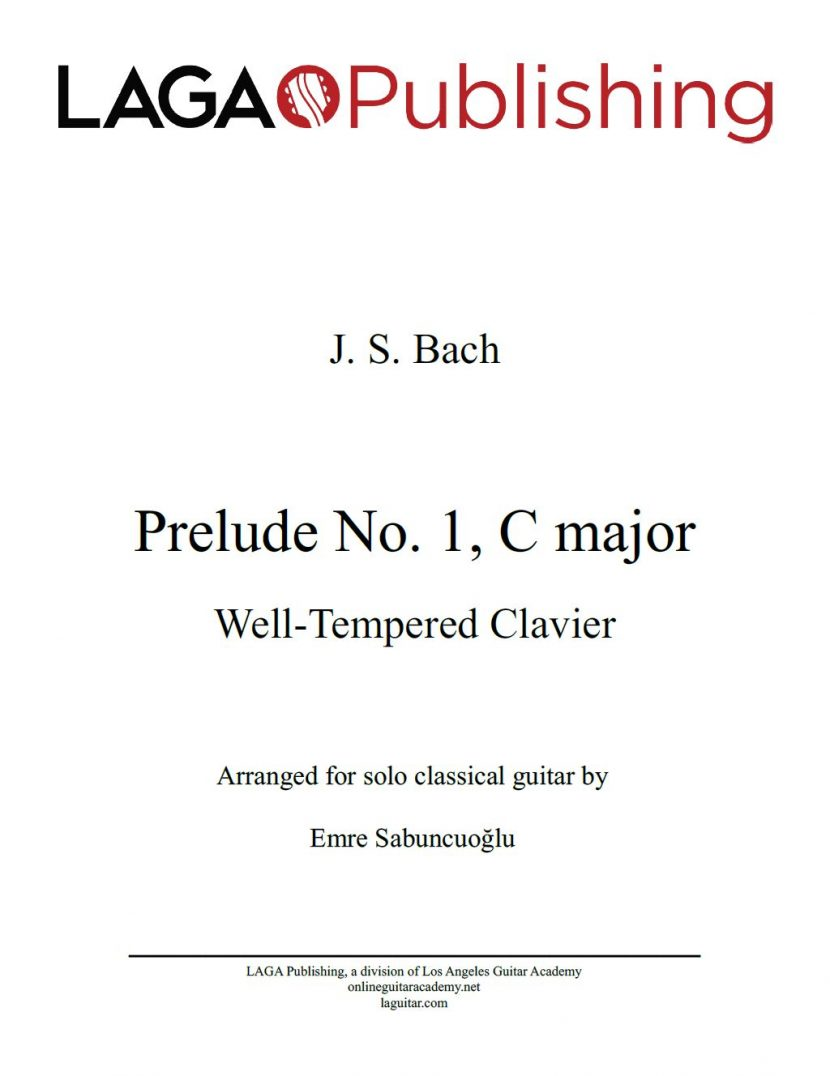 WTC Prelude No. 1 (BWV 846) by J. S. Bach for classical guitar