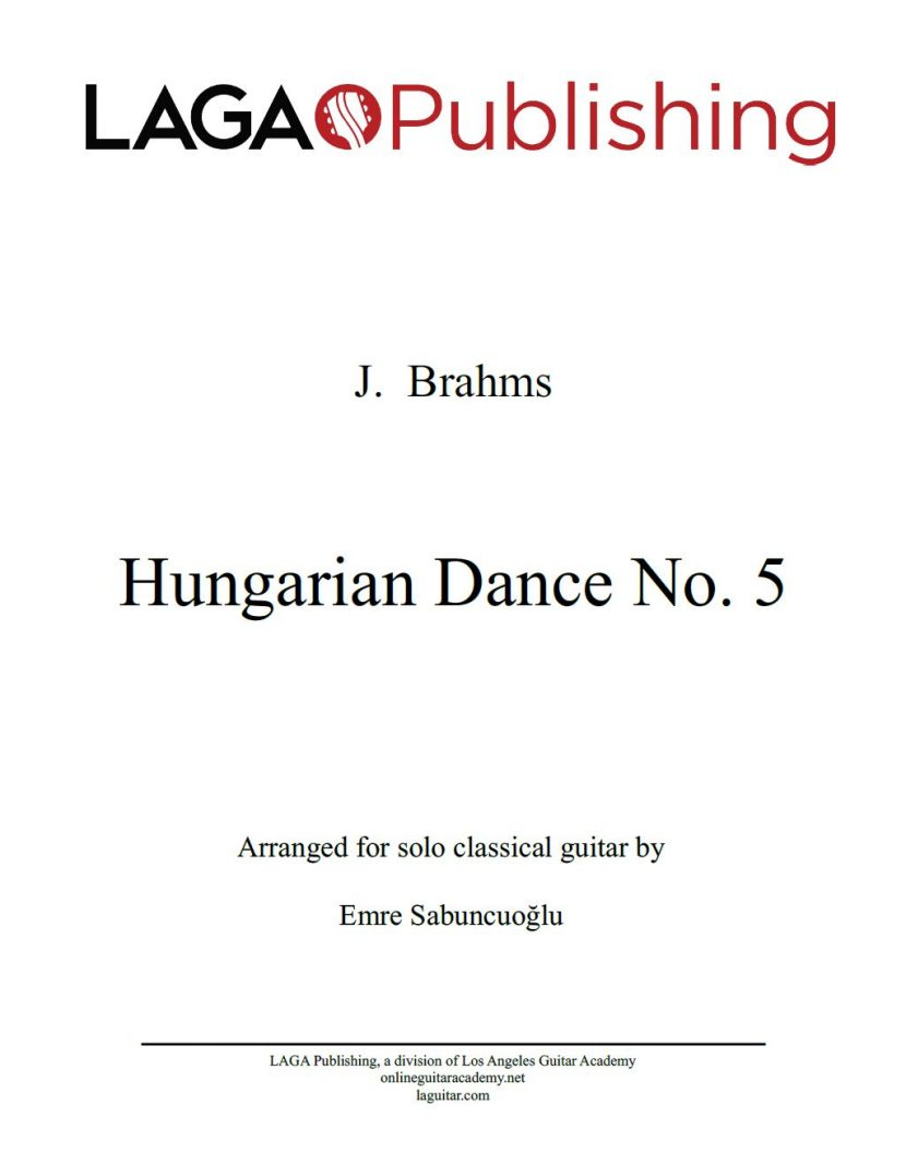 Hungarian Dance No. 5 by Johannes Brahms