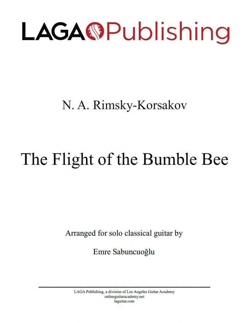 The Flight of the Bumble Bee by N. A. Rimsky-Korsakov for classical guitar