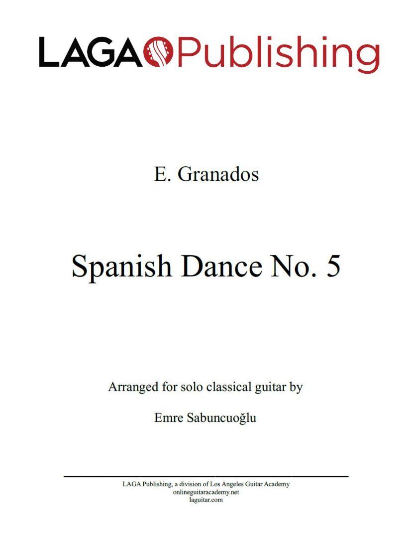 Spanish Dance No. 5 by E. Granados for classical guitar