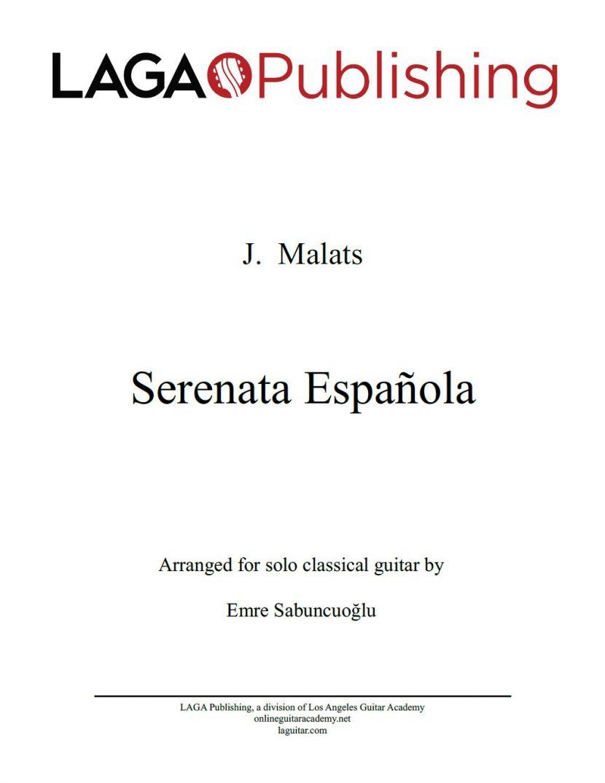 Serenata Española by J. Malats