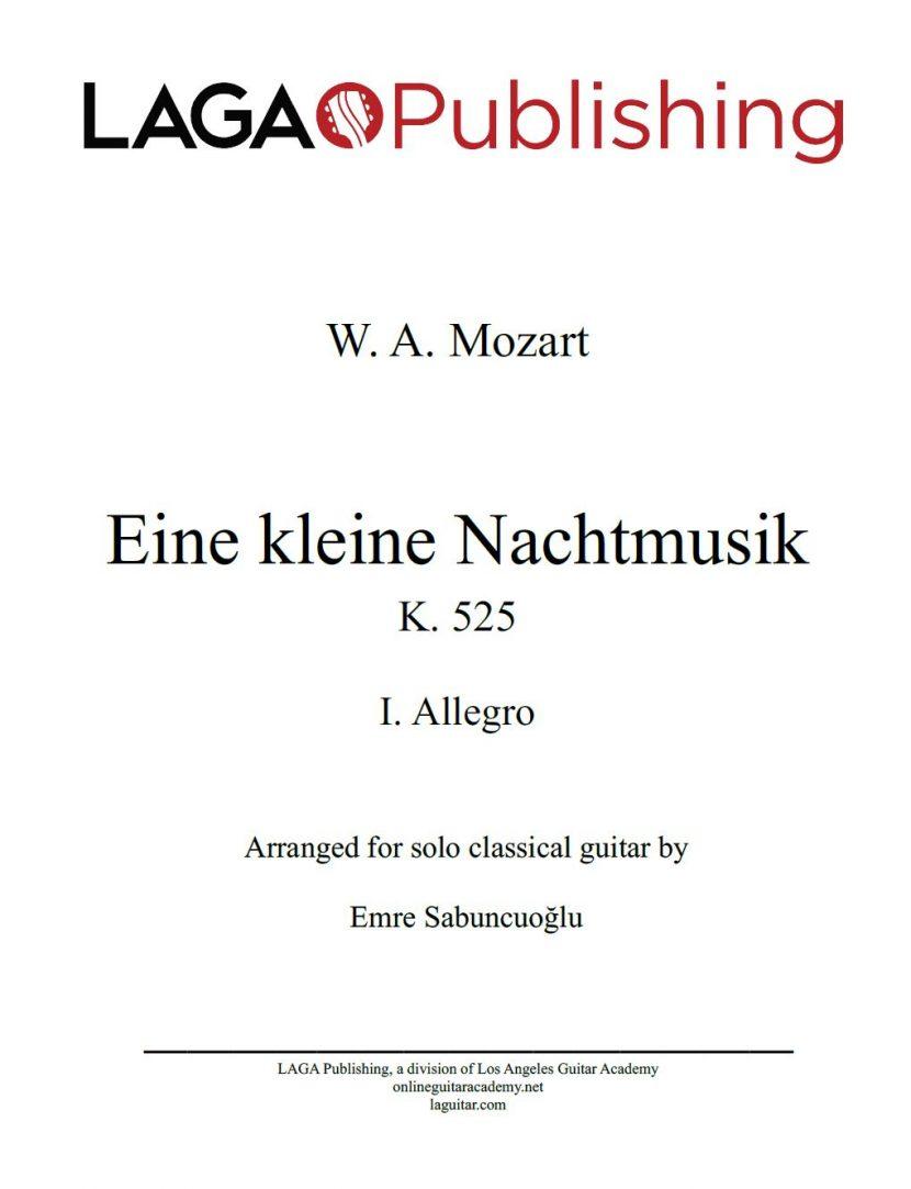 Eine kleine Nachtmusik (K. 525) First Movement by W. A. Mozart for classical guitar