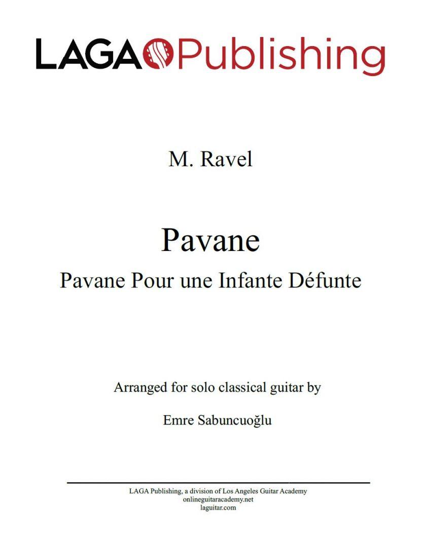 Pavane pour une infante défunte by Maurice Ravel for classical guitar