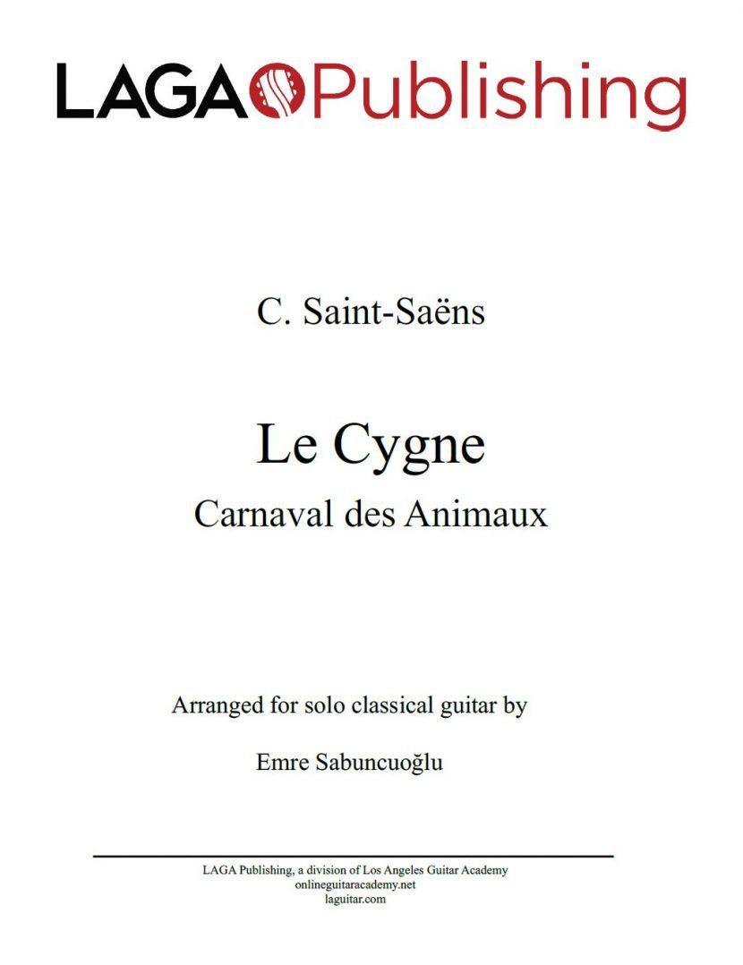 Le Cygne (Swan) by C. Saint-Saëns for classical guitar