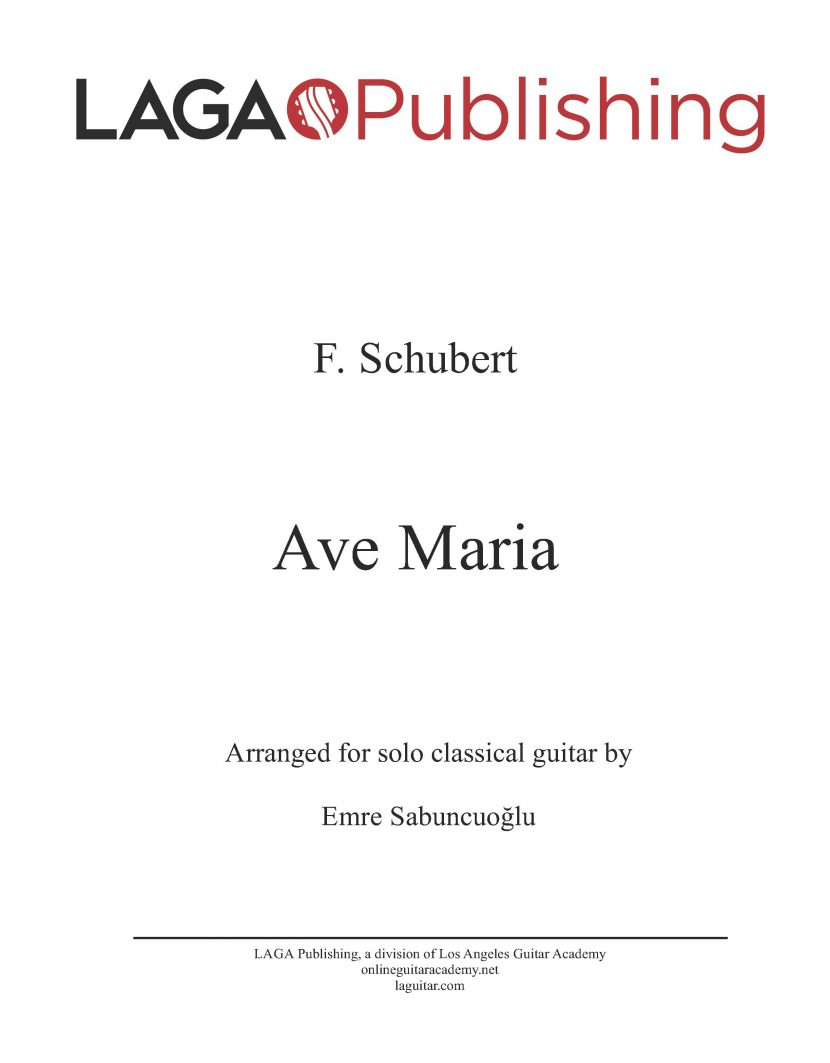 Ave Maria by F. Schubert for classical guitar