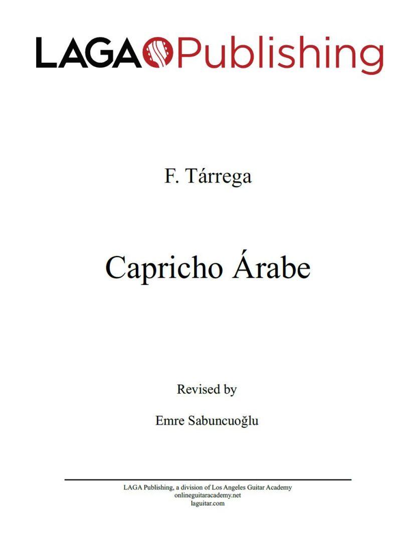 Capricho Arabe by F. Tarrega for classical guitar