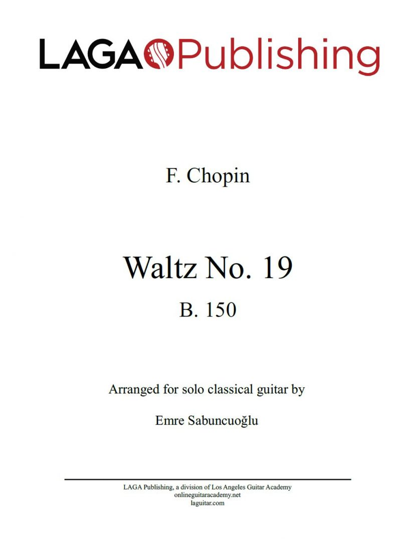 Waltz Op.19 by F. Chopin for classical guitar