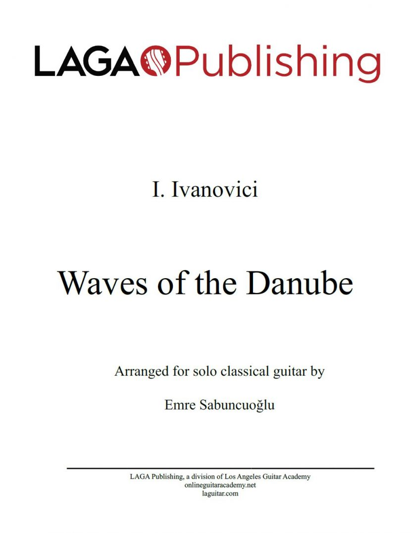 The Waves of the Danube by I. Ivanovici for classical guitar