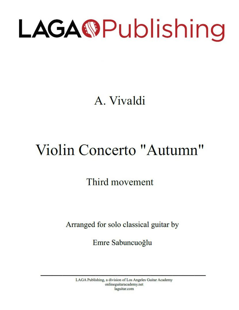 The Four Seasons - Autumn (3rd movement) by A. Vivaldi for classical guitar