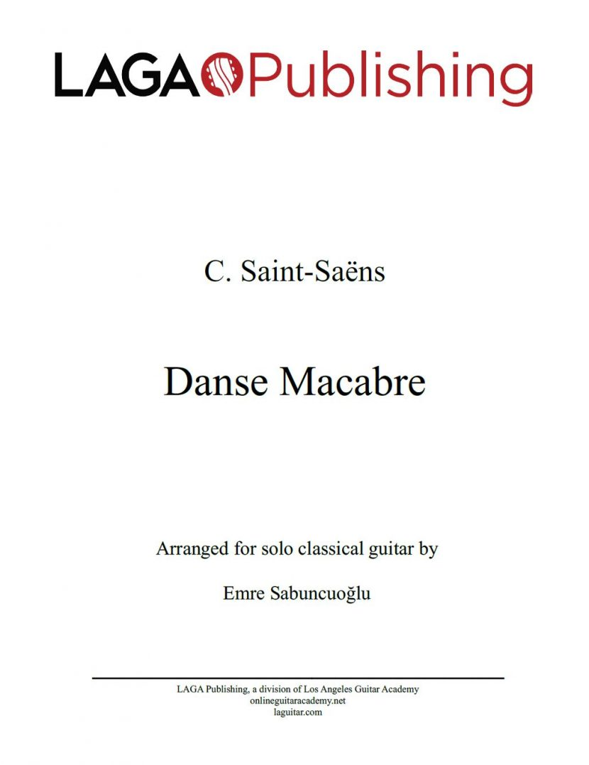 Danse Macabre by C. Saint-Saëns for classical guitar