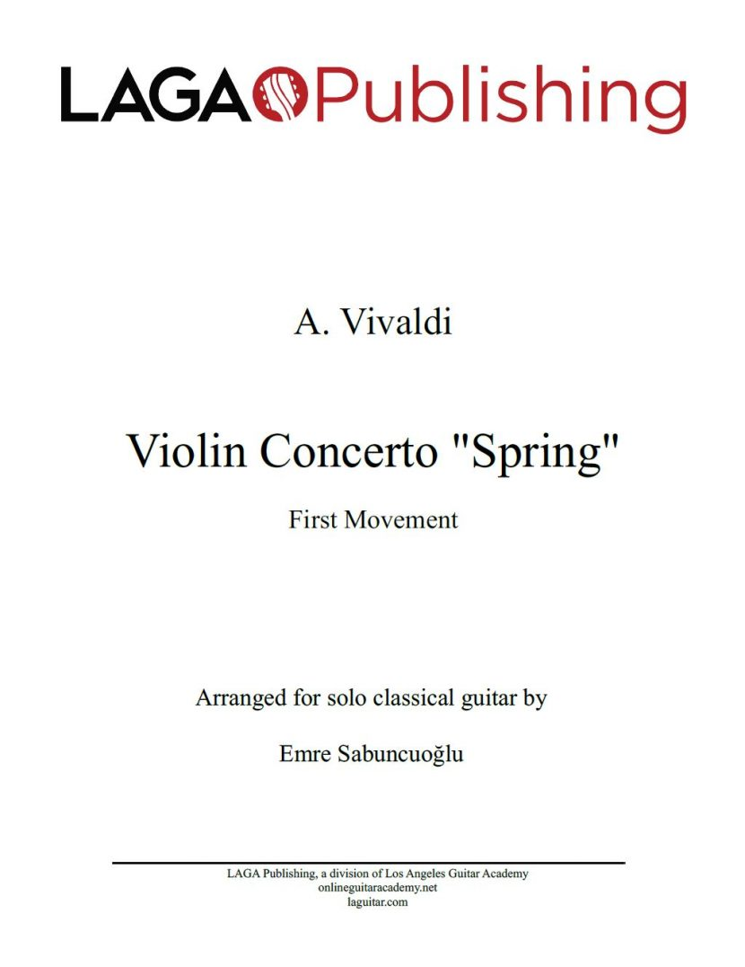 The Four Seasons - Spring (1st movement) by A. Vivaldi for classical guitar