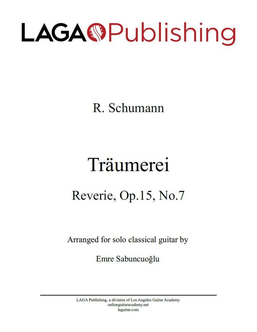 Träumerei (Kinderszenen Op.15) by R. Schumann for classical guitar