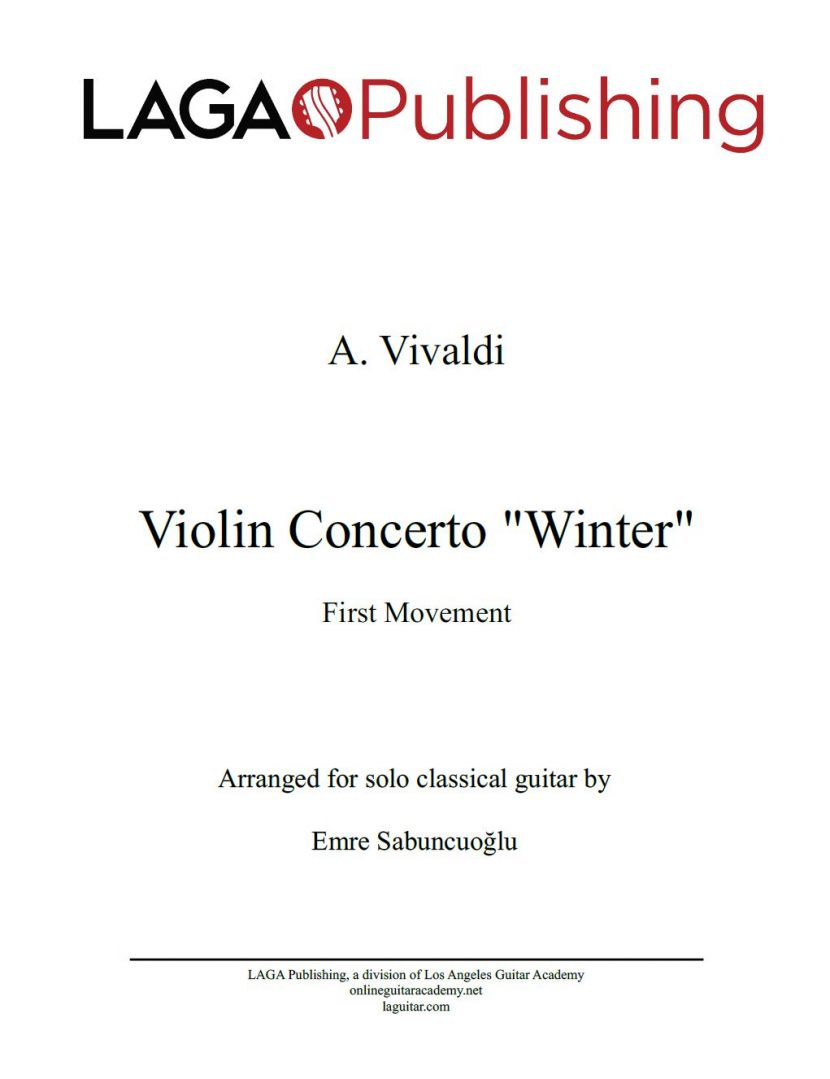 The Four Seasons - Winter (1st movement) by A. Vivaldi for classical guitar