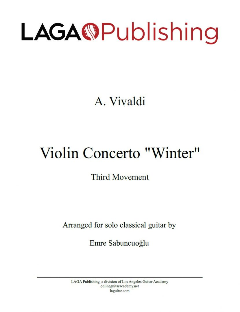 The Four Seasons - Winter (3rd movement) by A. Vivaldi for classical guitar