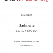 Badinerie, BWV 1067 by J. S. Bach for classical guitar