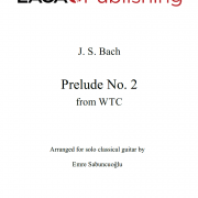 Prelude No. 2 in C minor (WTC, BWV 847) by J. S. Bach for classical guitar