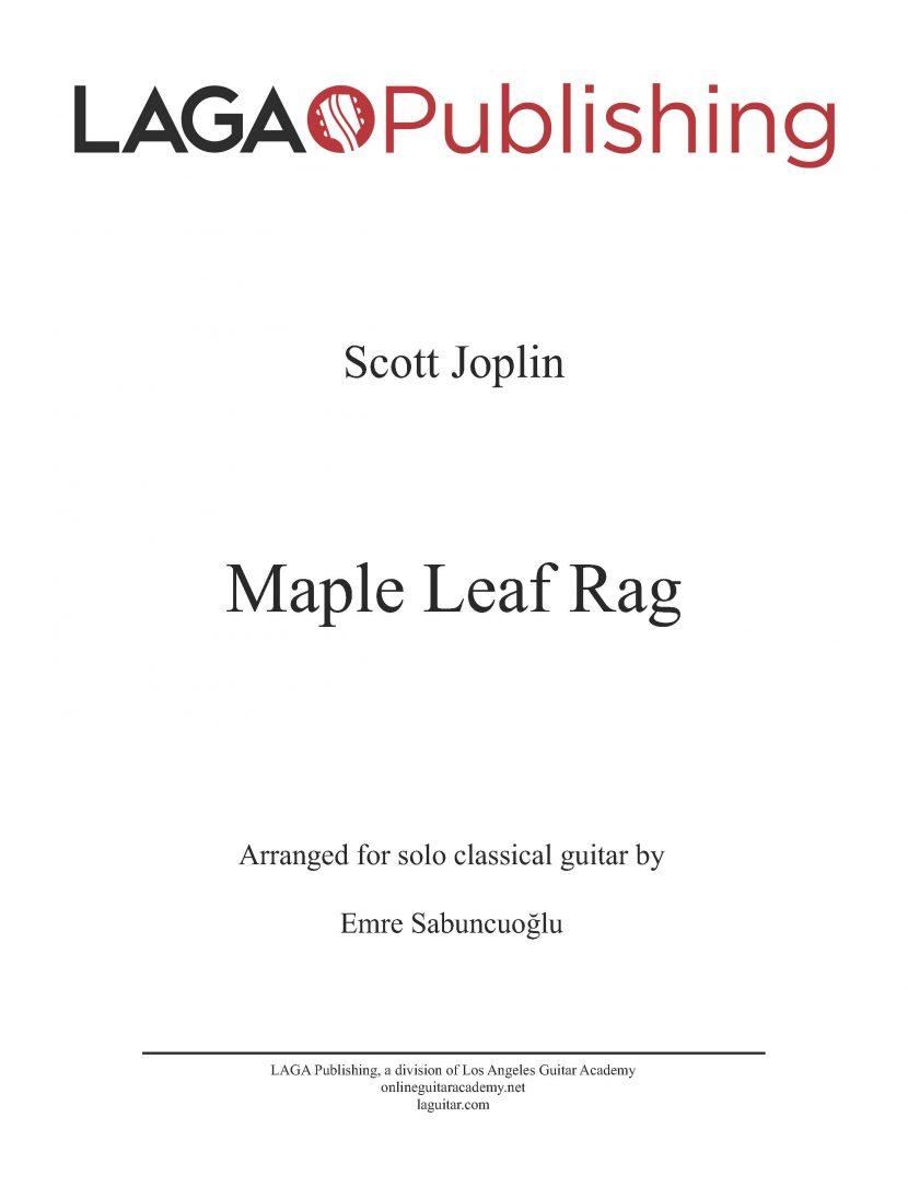 Maple Leaf Rag by Scott Joplin for classical guitar