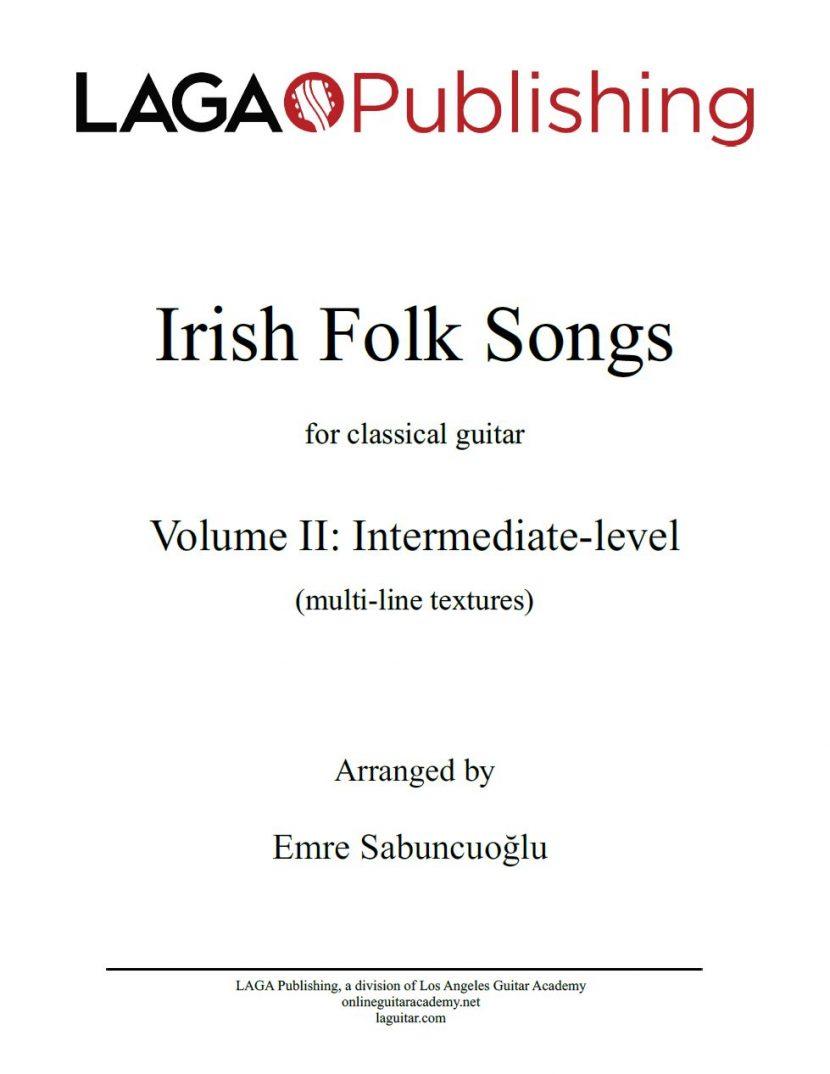 Irish Folk Songs for classical guitar - Volume II
